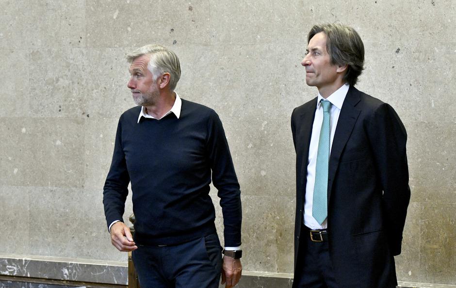 Die Angeklagten Walter Meischberger (l.) und Ex-Finanzminister Karl-Heinz Grasser.