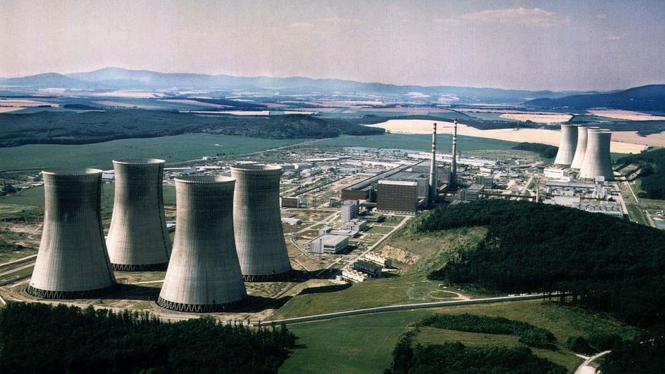 Luftbildaufnahme des Atomkraftwerkes Mochovce in der Slowakei (undatiertes Archivbild).