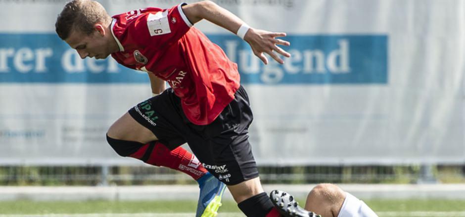 Fabian Kraxner stolperte  mit seinen Reichenauern bei der 1:2-Niederlage über Langenegg.