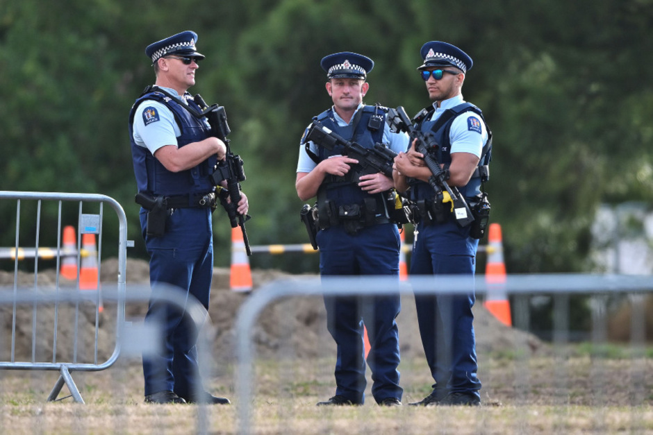 Polizisten in Christchurch.