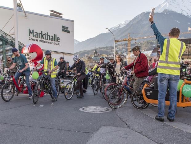 Am Samsatg wird bei der Radparade in Innsbruck wieder kräftig in die Pedale getreten.