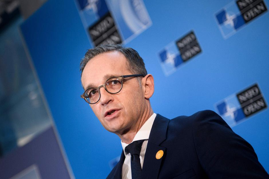 Der deutsche Verteidigungsminister Heiko Maas (SPD) bei dem NATO-Treffen in Washington.