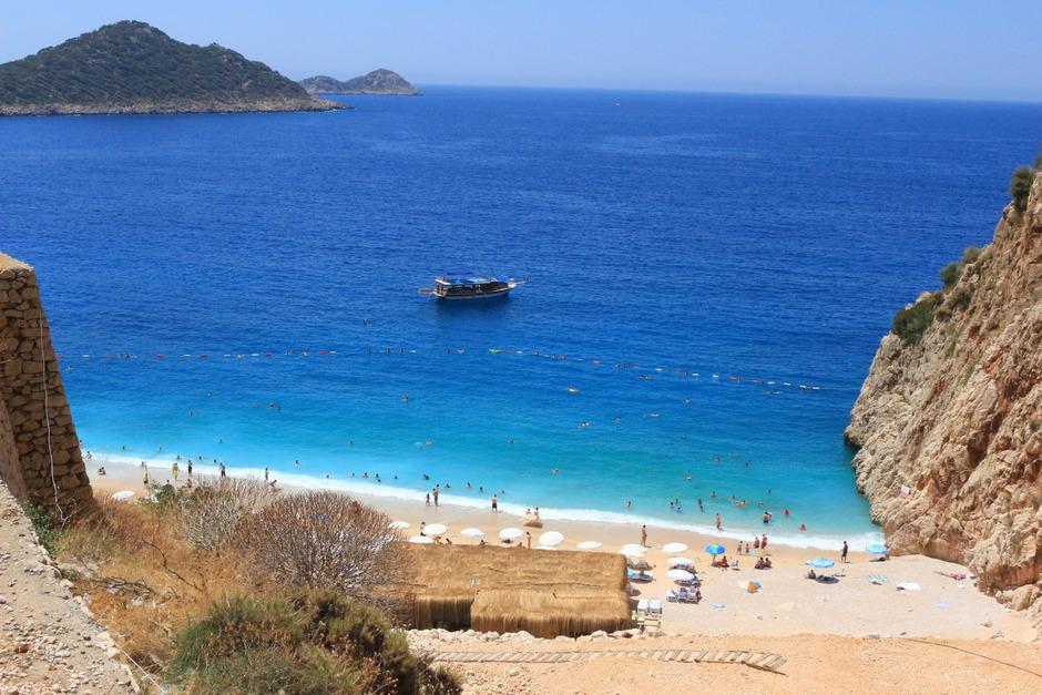 Der Kaputas-Strand  in der südwestlichen Türkei. (Symbolfoto)