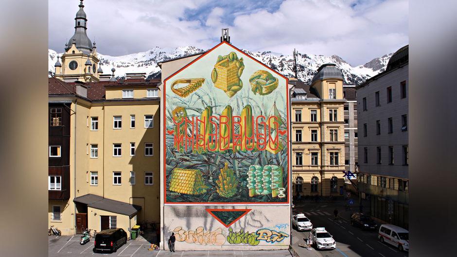 Kaiserliches Mural In Innsbruck Hnrx Legte Für Maximilian Hand An