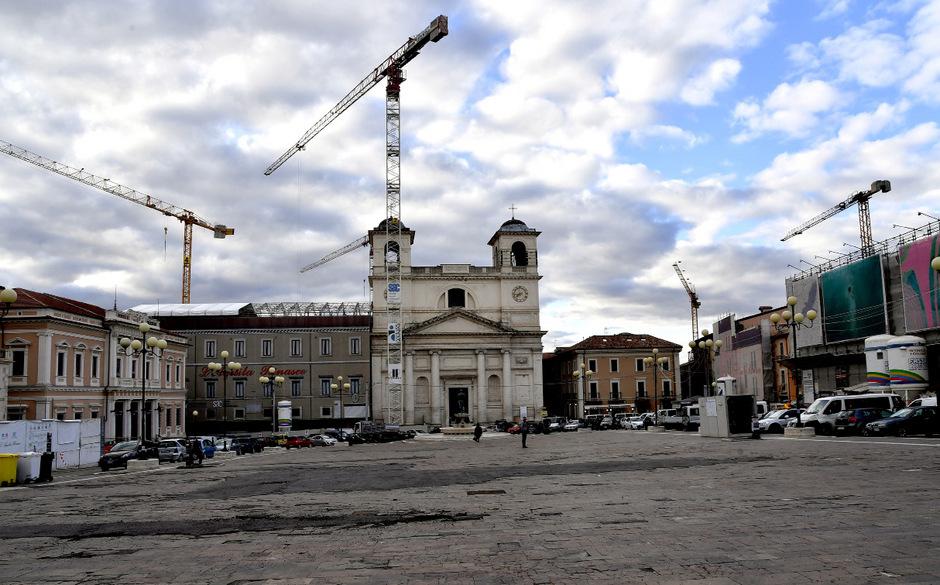 Der Stadtkern von L'Aquila ist zwar wieder bewohnbar, doch das Leben dort ist sehr beschwerlich.