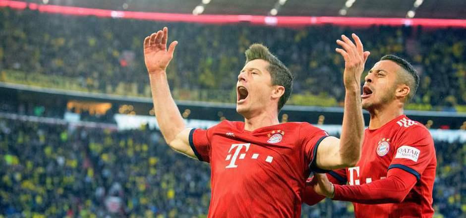 Bayern-Star Robert Lewandowski erzielte gegen Dortmund seine Bundesliga-Tore Nummer 200 und 201.