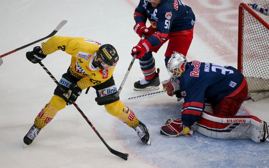 Die Caps können am Dienstag mit einem Sieg in Salzburg den Einzug ins Finale gegen den KAC fixieren.