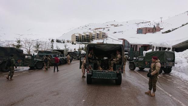Ein gewaltiges Militäraufgebot sorgte für die Sicherheit der 350 Teilnehmer des von der libanesischen Armee organisierten Rennens.
