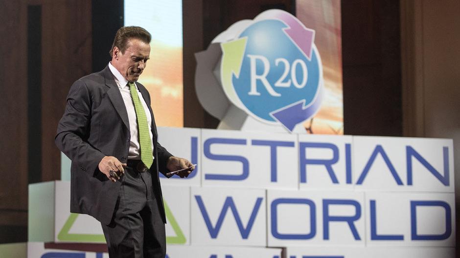Arnold Schwarzeneggers Organisation R20 veranstaltet zum dritten Mal den Austrian World Summit.