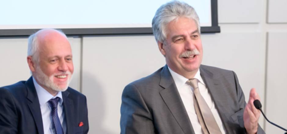 """Achinger und Schelling: """"Wenn jeder bereit ist, seine Beharrungspolitik aufzugeben, wird etwas weitergehen."""""""