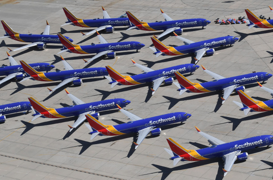 Derzeit müssen alle ausgelieferten 737 Max am Boden bleiben.