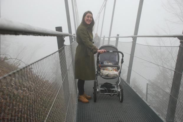Die Highline ist auch mit Kinderwagen zu erreichen.