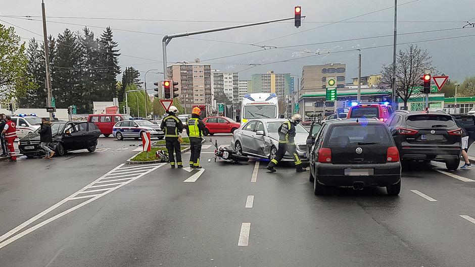 Die Unfallstelle in Innsbruck.