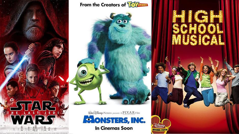 """Disney hat nicht nur eine neue Star-Wars-Trilogie, sondern gleich eine ganze Serie angekündigt. Auch """"Die Monster AG"""" und """"High School Musical"""" werden für den hauseigenen Streamingdienst zu Serienfutter verarbeitet."""