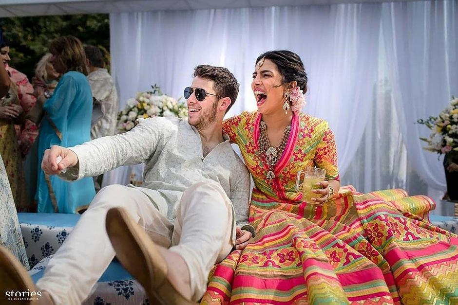 Priyanka Chopra (36) und Nick Jonas (26) während ihrer Hochzeitsfeierlichkeiten.