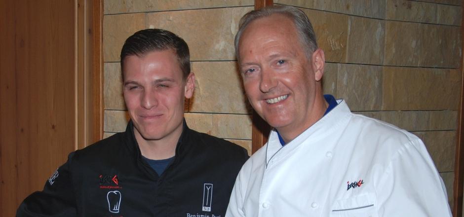 Feierten Premiere mit der Gourmetsafari und landeten einen Volltreffer: Benjamin Parth, Koch des Jahres 2019 und Martin Sieberer, Koch des Jahres 2000.