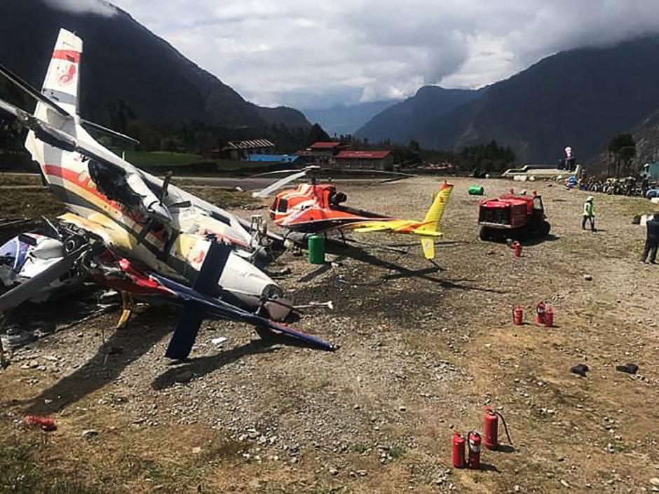 Das Unglück passierte am Flughafen Lukla.