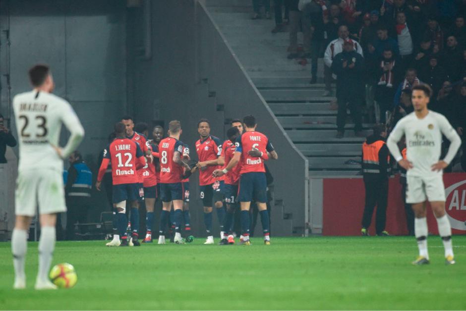 Jubel bei Lille, ungläubiges Kopfschütteln bei PSG.