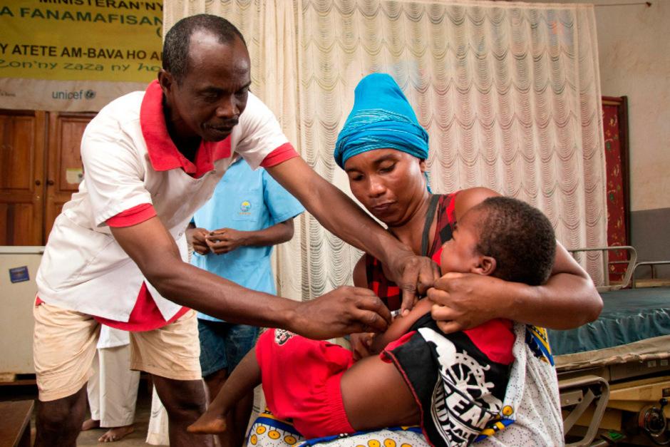 Eine Impfkampagne ist in Madagaskar angelaufen.