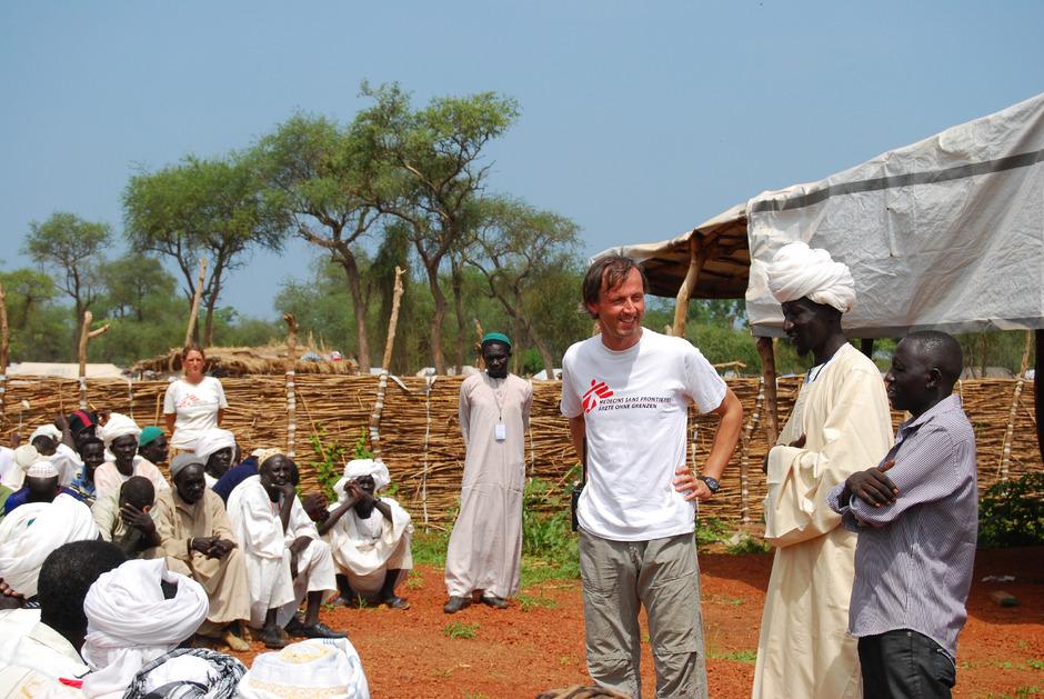 Der gebürtige Osttiroler Marcus Bachmann – hier bei einem Einsatz im Südsudan – reist morgen mit Ärzte ohne Grenzen ins Ebola-Gebiet in die Demokratische Republik Kongo.