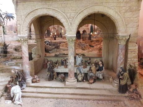 In der Johanneskirche steht die Fastenkrippe