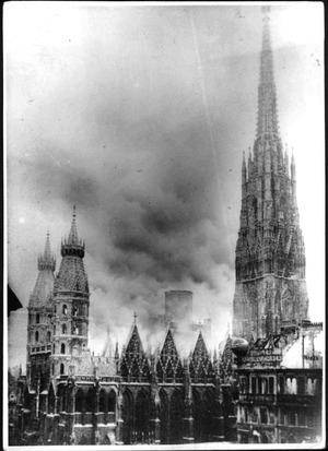 Der Stephansdom brannte zuletzt Ende des Zweiten Weltkrieges im April 1945.
