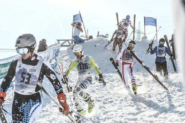 """1350 Höhenmeter müssen beim """"Weißen Rausch"""" am Arlberg bewzungen werden."""