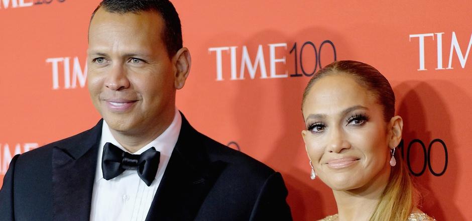 """Anfang März sagte sie """"Ja"""" zu ihm: Alex Rodriguez und Jennifer Lopez."""