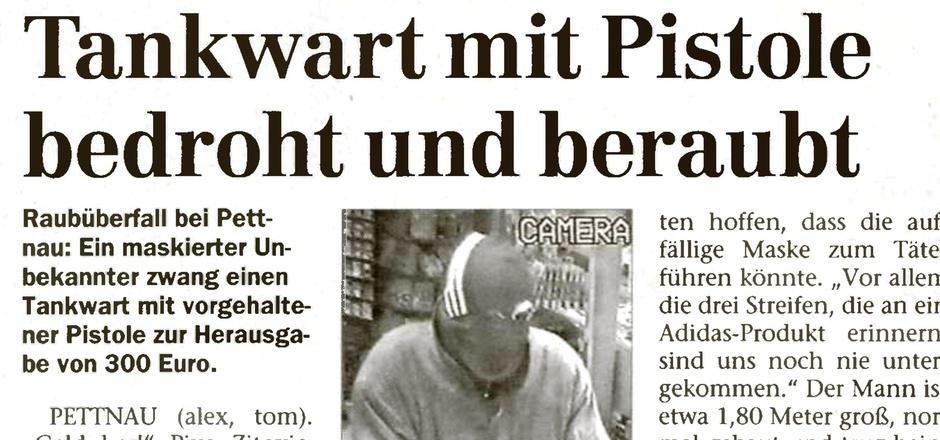 Der Räuber sorgte vor 17 Jahren für Schlagzeilen in der Tiroler Tageszeitung.