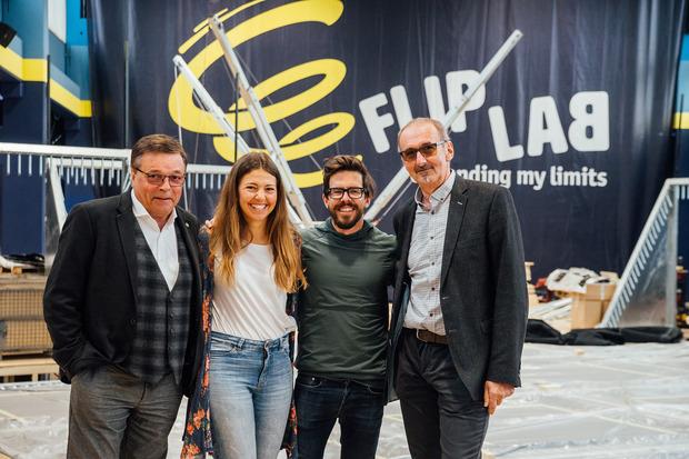 Medalp-Chef und Investor Alois Schranz (v.l.), Ines Schmidt (Marketing), René Schnöller (Betriebsleiter) und der Arzt und Investor Manfred Lener.