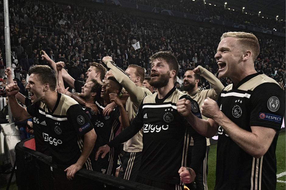 Grenzenloser Jubel beim Überraschungsteam Ajax Amsterdam.