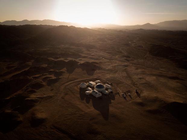 """Die """"Mars-Basis 1"""" aus der Vogelperspektive."""