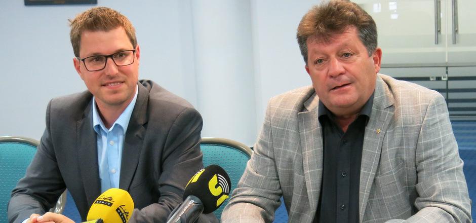 Vizepräsident Christian Härting (l.) und Präsident Ernst Schöpf üben harsche Kritik an der Ignoranz der Landesregierung.