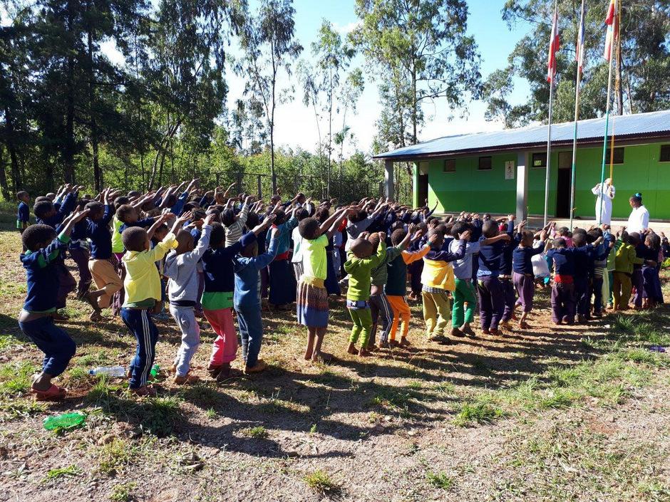 160 Kinder besuchen mittlerweile die Schule im äthiopischen Dorf Beradje, die Klaudia Kluckner aus Reith bauen ließ.