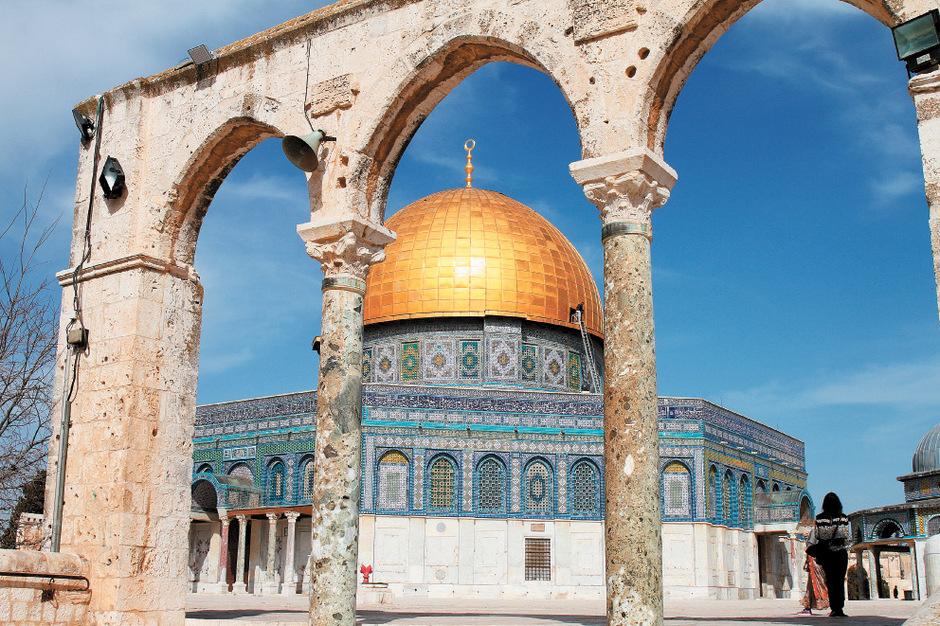 Der Felsendom mit der prunkvollen goldenen Kuppel ist die drittheiligste Stätte des Islams, in einer Stadt, in der sich drei Religionen treffen.