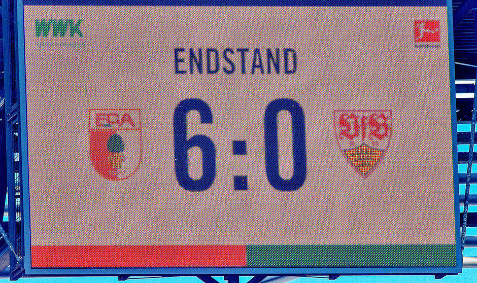 Stuttgart kassierte in Augsburg eine historische 0:6-Niederlage.
