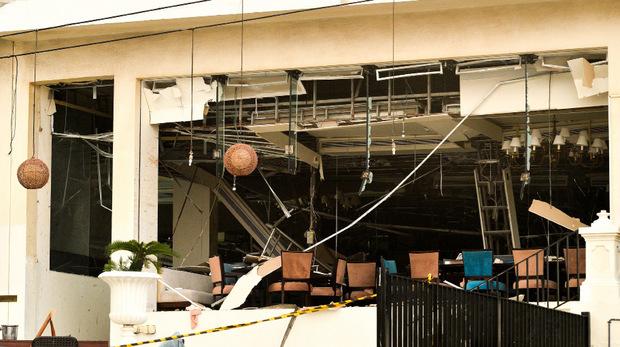 Eine Explosion verwüstete das  Kingsbury Hotel in Colombo.