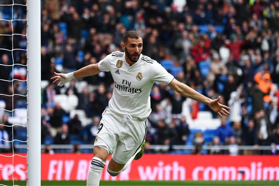 Stürmerstar Karim Benzema erzielte alle drei Real-Treffer.