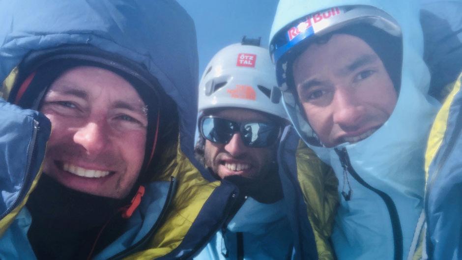 Das letzte Foto von Jess Roskelley, Hansjörg Auer und David Lama.