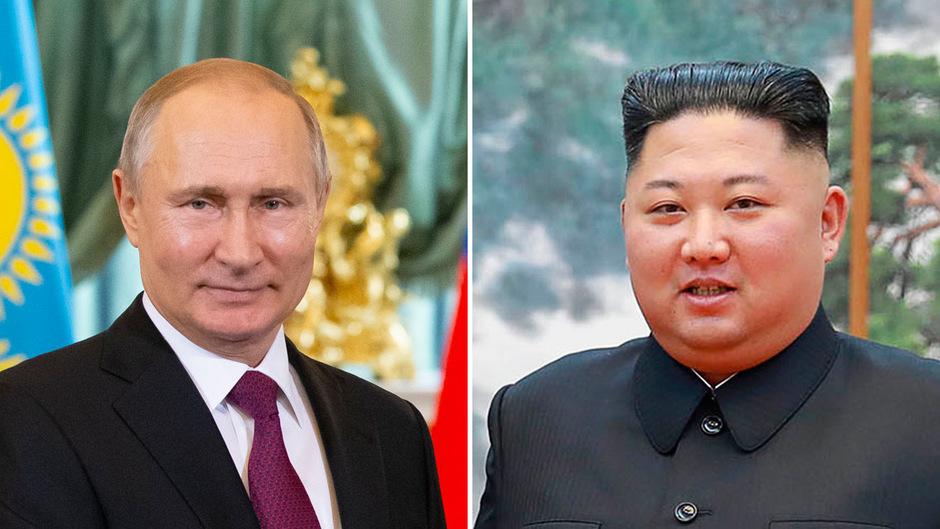 Wladimir Putin und Kim Jong Un.