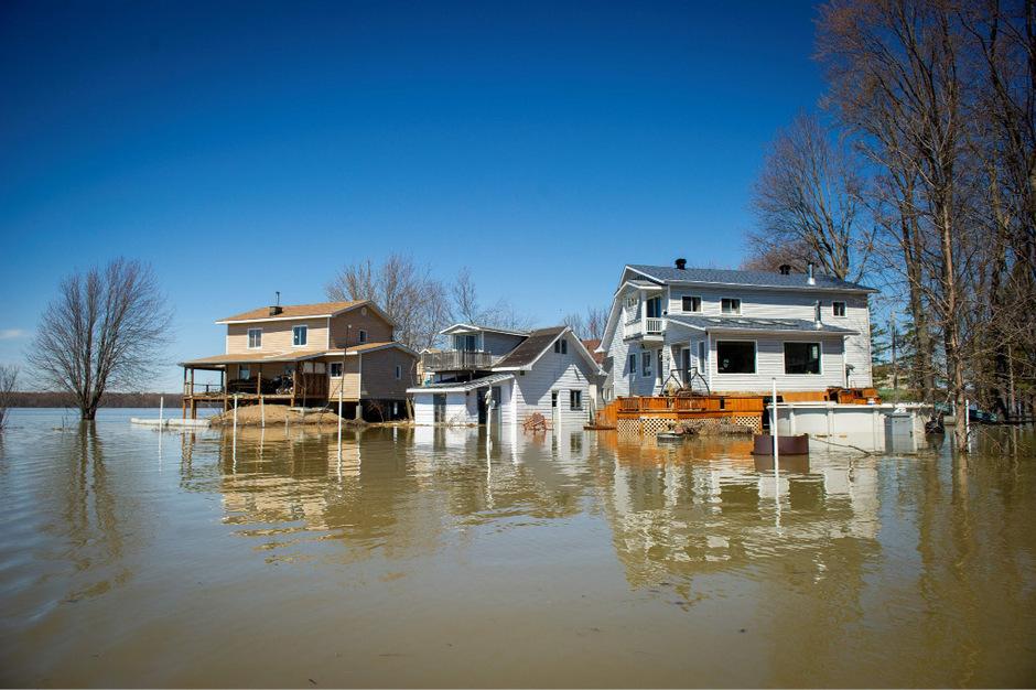 Quebec in Kanada ist von den Überflutungen besonders stark betroffen.