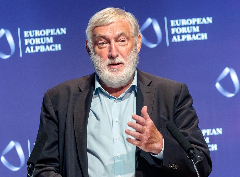 """""""Demokratie muss gelebt werden"""": Forums-Präsident Franz Fischler rief zur Teilnahme an der EU-Wahl am 26. Mai auf."""