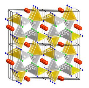 Die Kristallstruktur des SALON-Leuchtstoffs ist die Ursache für dessen hervorragende Lumineszenzeigenschaften.