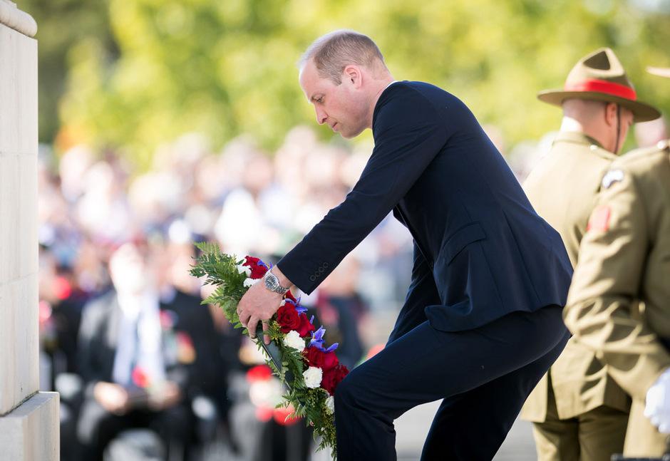 William bei einer Kranzniederlegung anlässlich des neuseeländischen Gedenktages ANZAC.