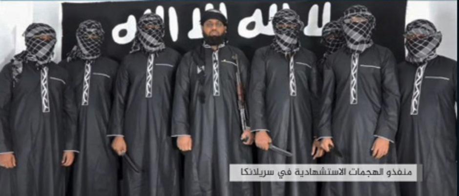 Zahran Hashim (Mitte) galt als der Anführer der Islamistengruppe National Thowheeth Jama'ath (NTJ), die für die Anschläge on Sri Lanka verantwortlich gemacht wird.