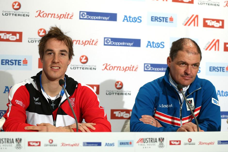 Johannes Dürr (l./mit Ex-Sportdirektor Markus Gandler) gab an, der ÖSV verschließe die Augen vor Doping.