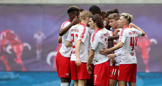 Leipzig jubelte nach dem Sieg gegen Freiburg über die Quali für die Champions League.
