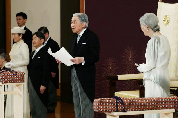Zum letzten Mal hielt Kaiser Akihito eine Ansprache, dann dankte er ab.