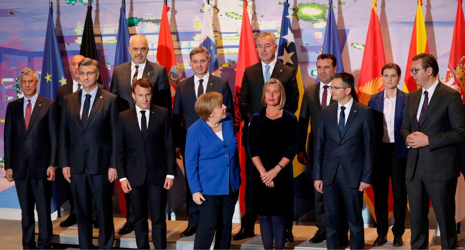 Teilnehmer der Westbalkan-Konferenz in Berlin.