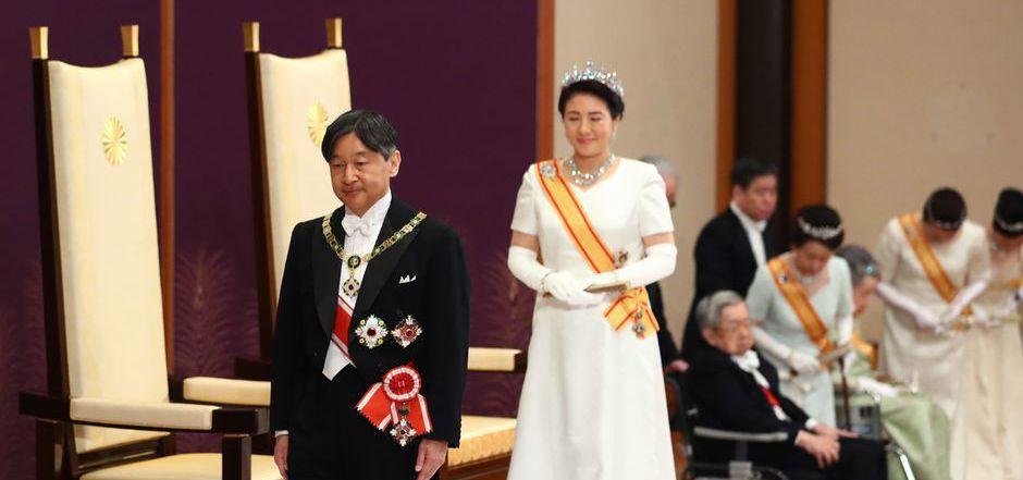 Japans neuer Kaiser Naruhito und Kaiserin Masako.